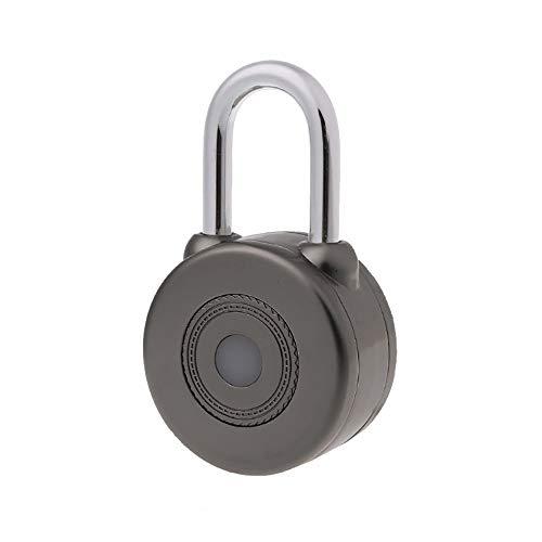XXLYY Bluetooth Smart VorhäNgeschloss, SchlüSselloses Elektronische TüRschloss Mit Smartphone APP Fernbedienung Bluetooth wasserdichte Sicherheit Anti-Diebstahl VorhäNgeschloss FüR Koffer Fahrrad (Eintrag Türschloss-set)