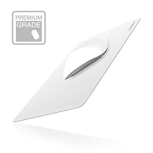Alfombrilla de Ratón para Mac, multifun Cojín de Ratón Reutilizable Sin Deslizamiento, Mouse Pad Resistente al Agua Blanco