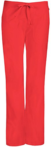 code happy Women's Mid-Rise Flare Leg Drawstring Scrub Pant X-Small Coral Reef (Kleine Flare Scrubs Hose)