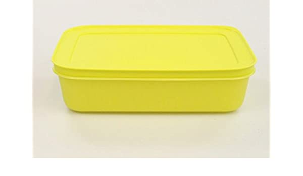 TUPPERWARE Gefrier-Behälter 1,0 L gelb flach