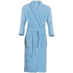 Mack Peignoir de Bain/Sauna - Homme/Femme - Polyester Bleu Clair XXL