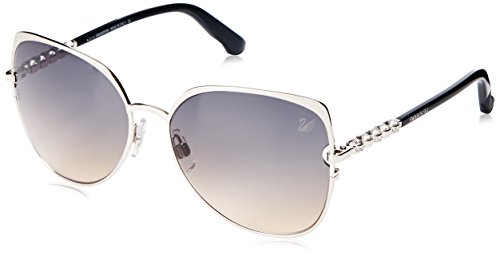 Swarovski Damen Sunglasses Sk0066 16B-59-16-140 Sonnenbrille, Silber, 59