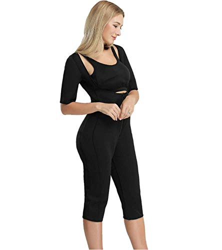 QJXSAN Ganzkörper-Neopren Schweiß absorbierende Bodysuit, Yoga Fitness Laufen Schweiß absorbierende Sauna Anzug Body