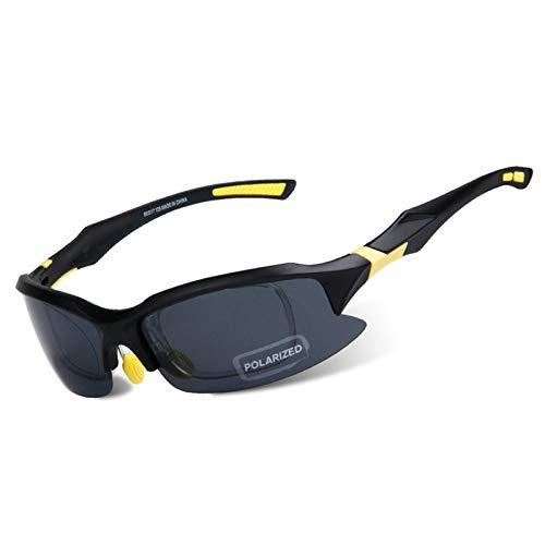 Coniea Motorrad Brillen für Brillenträger PC Brillenträger Herren Outdoorbrille Schwarz Gelb