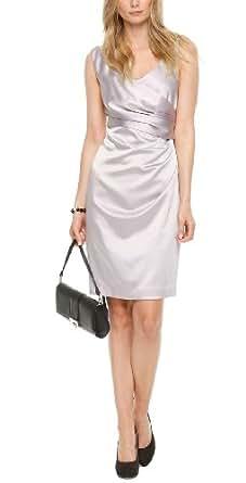 SIR Oliver Damen Cocktail Kleid 06.404.82.8354, Knielang, Einfarbig, Gr. 38, Grau (crystal grey)