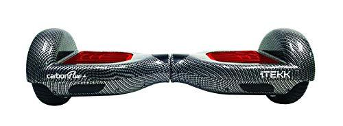 Itekk iTEKK-CRB2-RED Hoverboard 6.6 Carbon Fluo, Assicurazione AXA 'Tutela Famiglia' Inclusa, Unisex, Rosso Fluo