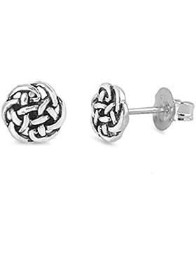 925 Sterlingsilber Ohrringe - Keltisches Design