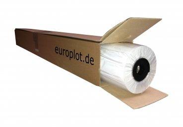 (1,19€/m²) Plotterpapier ungestrichen, 1 Rolle | 120g/m², 420mm b, 30m l