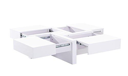 ACTUAL DIFFUSION 3BD-488BL Table Basse Carrée Bois 100 x 100 x 35 cm