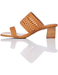 find. - Two Band Woven Sandal, Sandali punta aperta Donna