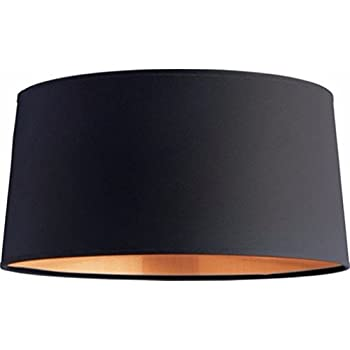 Onepre drum large lampshade black and copper color lamp shades for onepre drum large lampshade black and copper color lamp shades for table lamps floor lamp ceiling mozeypictures Image collections