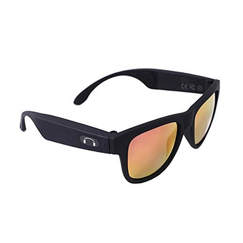 Smart Touch Knochenleitung Bluetooth-Brille für Laufen, Outdoor, Fahrrad, Fahren,Black