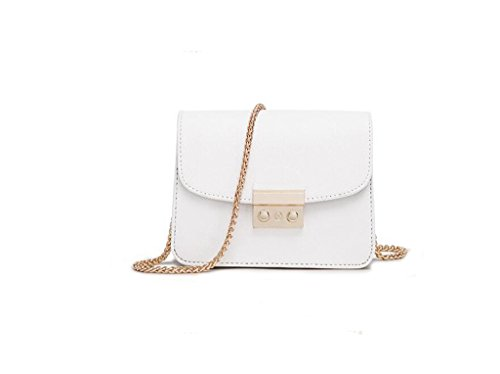 catena Ms. di piccolo sacchetto quadrato, sacchetto di spalla casuale, sacchetto del messaggero di modo, un piccolo sacchetto white