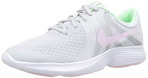 NIKE Jungen Nike Revolution 4 (Gs) Laufschuhe, Mehrfarbig (Pure Platinum/Pink Foam/Platinum Tint 006), 38 EU (Boys Blue Nikes)