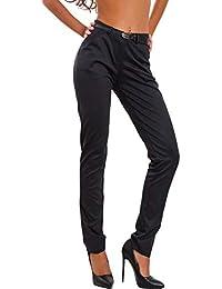 Amazonit Pantaloni Donna Eleganti A Sigaretta Abbigliamento