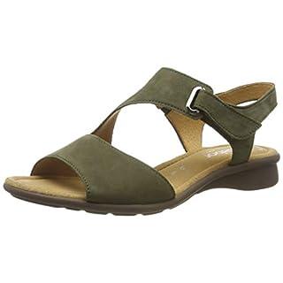 Gabor Shoes Damen Comfort Basic Riemchensandalen, Grün (Salvia 30), 42.5 EU