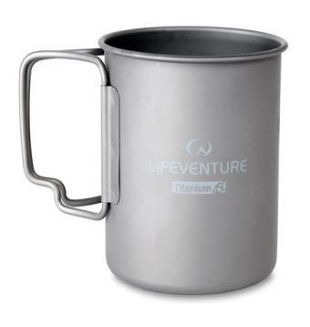 Lifeventure Unisex's Titanium Camping, Mug (400ml), 450ml