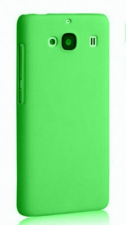 WOW Imagine(TM) Rubberised Matte Hard Case Back Cover For XIAOMI MI REDMI 2 / REDMI 2 PRIME (Green)