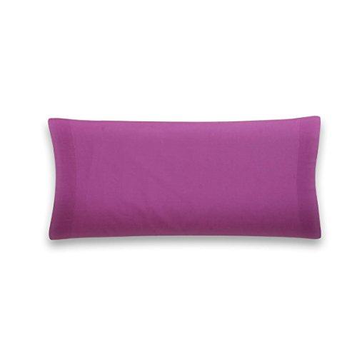 Sancarlos - Funda de almohada para cama, 100% Algodón percal, Color morado, 75 cm