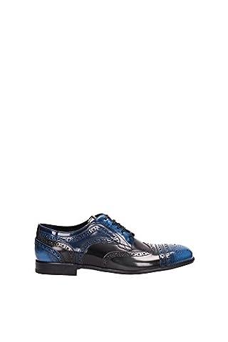 Derby Dolce&Gabbana Homme Cuir D'eau Bleus et d'asphalte Noir CA6047AP3408D677 Bleu 41EU
