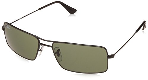 Ray-Ban UV protected Oversized Men Sunglasses (0RB3305I00258|58 millimeters|Crystal Green)