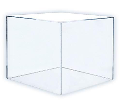 HOKU Holzhäuser Kunststofftechnik  Acryl-kubus in der Grösse : 20cm x 20cm x 20cm Box, Acryl/Plexiglas, 5 transparente Seiten, klar (20 x 20 x 20cm) (Acryl-box)