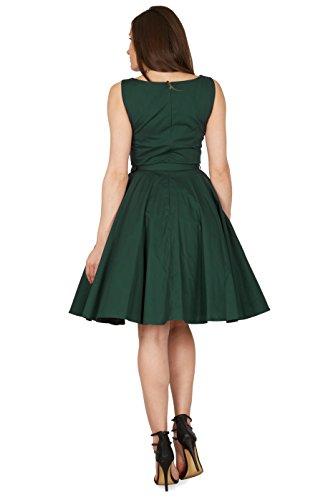 Black Butterfly 'Audrey' Vintage Clarity Kleid im 50er-Jahre-Stil (Dunkelgrün, EUR 38 – S) - 3