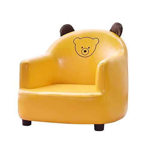 BDWY Tier Sessel Kinder Sofa Leder Abnehmbarer Stuhl Sofa,Gelb,C