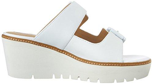 Geox Domezia C, Sandales Compensées femme Blanc