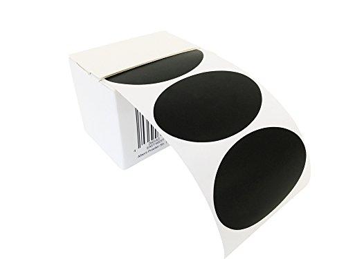 100 ovale Tafelsticker, Etiketten, Vinylsticker, Tafelaufkleber in praktischer Spenderbox, für Haushalt, Candy Bar und vieles mehr