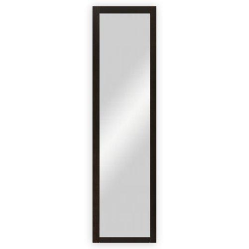 Wand-  Garderobenspiegel mit Holzrahmen, wengefarbig gebeizt - ca. 39 x 102,5 cm