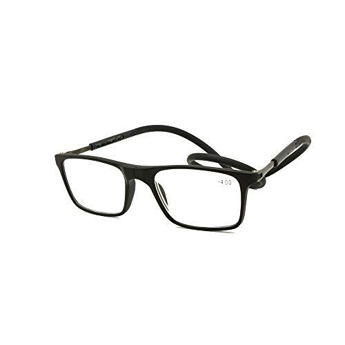 605cf99df0 EnzoDate Gafas de Lectura Plegable Frente Conectar Lector de Cuello de  Longitud Ajustable Antideslizante magnetica Templo