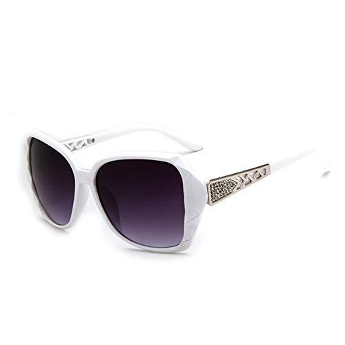 Shihuam Fashion Festival Girls Cat Vintage Eye Sonnenbrille Square Black Damen New Oversize Damen Sonnenbrille,Weiß grau