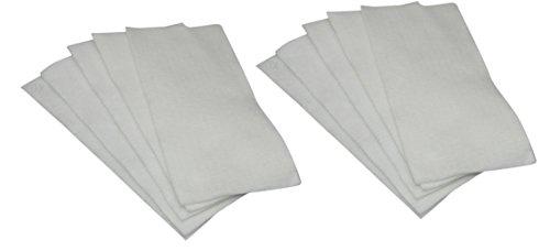 DREHFLEX® - 10 Mikrofilter/Luftfilter/Motorfilter/Abluftfilter/Microfilter zuschneidbar ca. 195x90mm / verwendbar für diverse Miele Bodenstaubsauger