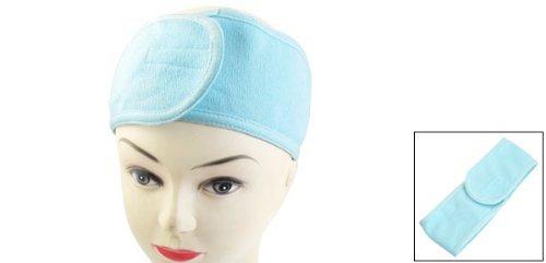 Bandeau Serre Tete Cheveux Coton Bleu Pour Soin Visage Maquillage Masque