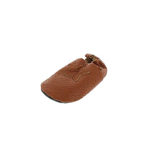 EnFant bébé mixte, chaussons en cuir, 815137 Brun cuivré