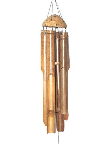 Unbekannt Bambus Windspiel längstes Rohr 60cm Garten-Deko Bambus-Klangspiel mit harmonischem Ton und warmem Klang Feng Shui - Ton Garten