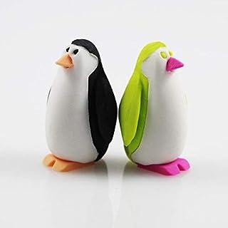 THREE Reizende Pinguin-Radiergummikinder der netten Karikatur, die Briefpapiergeschenk lernen, preise kawaii Schule Bürozubehöre, A