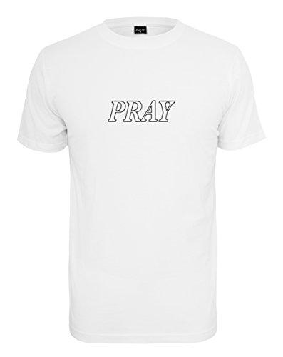Mister Tee (MISUQ) Herren Pray Hands Tee T-Shirt white