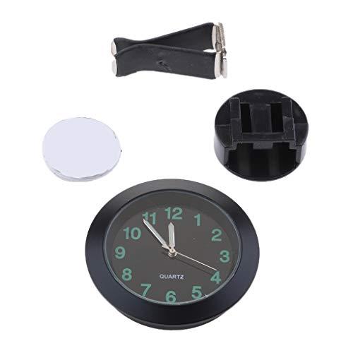 MagiDeal Armaturenbrett Uhr Mini Fahrzeug Uhr Belüftungsöffnung Uhr - Schwarz