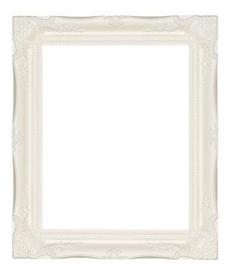 Qualità Ornate Bianco Cornice in legno 3
