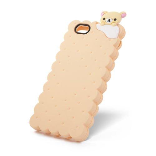BACK CASE 3D Cookie Kuche Keks für Apple iPhone 5 iPhone 5S iPhone 5G iPhone 5SE Hülle Cover Case Schutzhülle Tasche Silikonhülle Etui (gelb) gelb