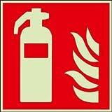 Schild Feuerlöscher nach ISO 7010 20x20 Kunststoff nachleuchtend