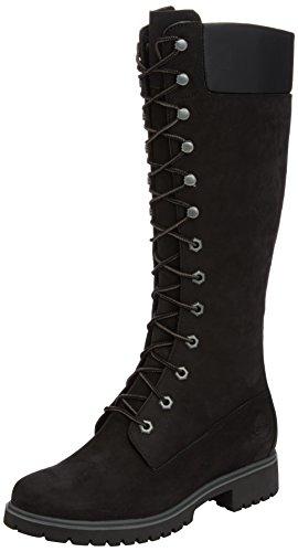 Timberland Women's Premium FTW_Women's Premium 14in WP Boot, Damen Langschaft Stiefel, Schwarz (BLACK), 36 EU (Damen Weiß Timberland Boots)