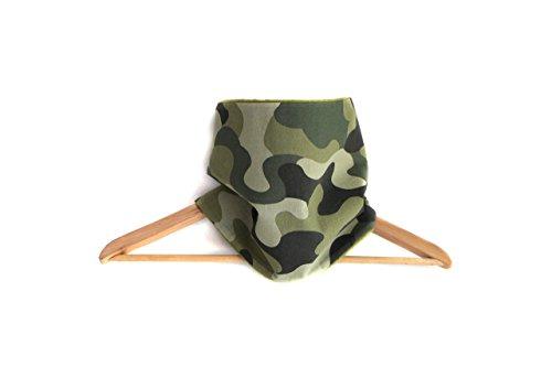 snood-echarpe-polaire-enfant-garcon-camouflage-vert-kaki-olive-tissu-coton-imprime-reversible-milita