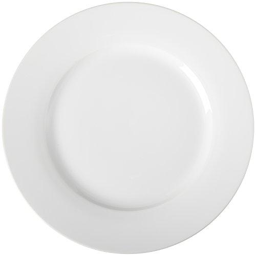 AmazonBasics Essteller-Service, 6-teilig (Porzellan Teller Weiße)