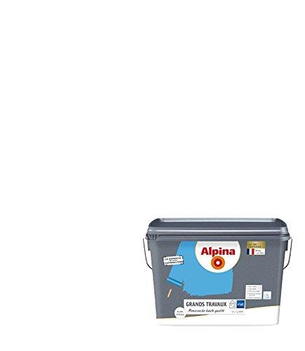 Alpina 810515Fliesenlack, für Wände/Decken Hohe Qualität Spezielle großen Arbeit 5L 50m², weiß, 810515