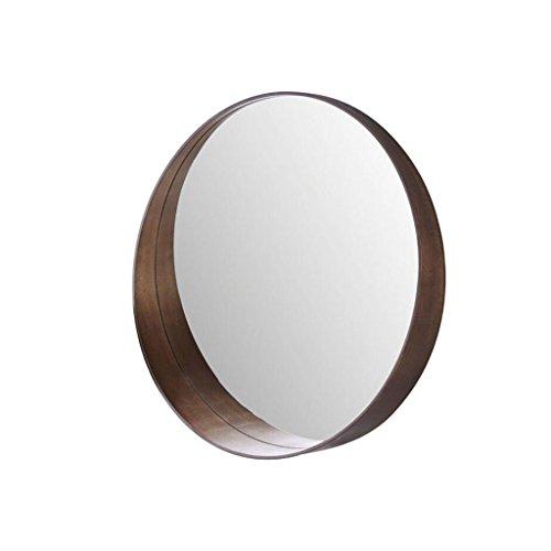 LEI ZE JUN UK- Runder Spiegel des festen Holzes für Badezimmer-Make-updekorations-Spiegel Wandspiegel Ovaler Holz-spiegel