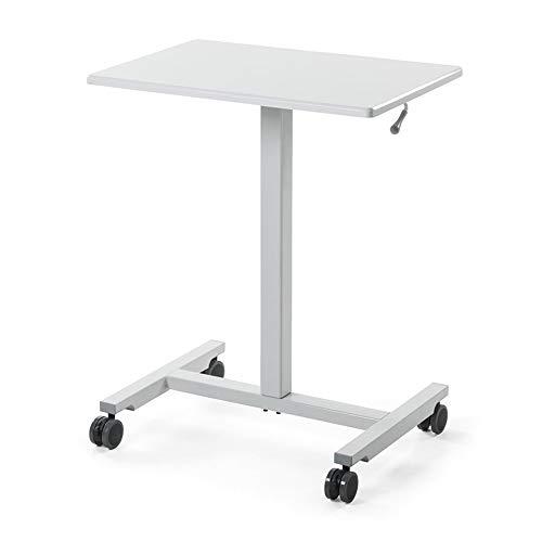 s Bar Lift Computer Schreibtisch Mobile Sit/Station Schreibtisch Podium/Präsentation Tischhöhe Kann Von 76,5-110,5 cm Angepasst Werden -Werkbank (Farbe : Weiß) ()