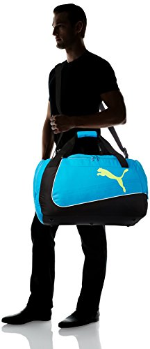 PUMA Sporttasche evoPOWER Medium Bag Black/Atomic Blue/Safety Yellow